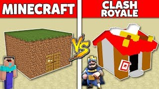Minecraft Battle: MINECRAFT vs CLASH ROYALE : SUPER HOUSE BASE Challenge in Minecraft Animation