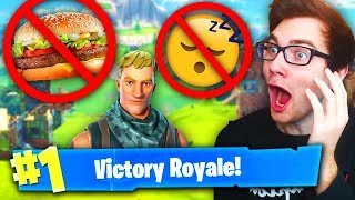 I Can't EAT OR SLEEP Until I WIN A GAME ON Fortnite Battle Royale (Worst Challenge Ever)
