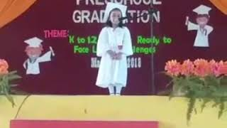 My Preschool Graduation Speech 2018