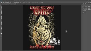 How To Make A Tshirt Design Illustration  (Odins Wolf)  Clip Studio Manga 5