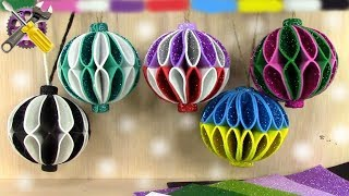 Diy Christmas Ornaments Glitter Foam 🌲 Christmas Decorations⛄christmas Ornaments With Glitter Balls