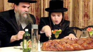 Rabeiny with His Son Moshe at Bar Mitzvah