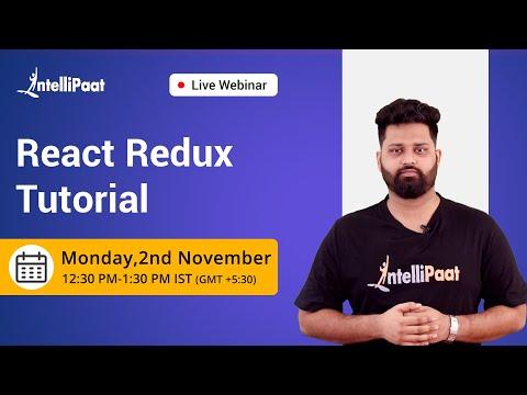 React Redux Tutorial | React Redux Training | Intellipaat - YouTube