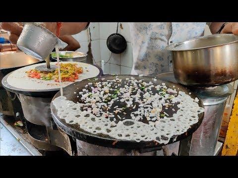 Most Skillful Dosa Making | Crispy Rava Dosa | Indian Street Food