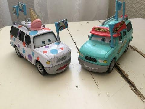 Disney Pixar Cars Tormentor Fan and I-Screamer Diecasts