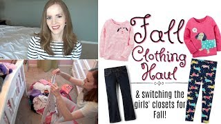 KIDS BACK TO SCHOOL CLOTHING HAUL - 2017 & Getting the Girls' Closets Ready for Fall & Winter!