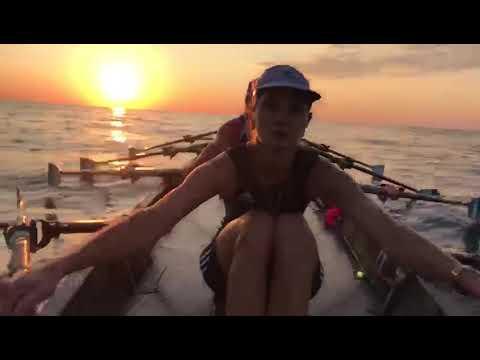 Утренняя тренировка в открытом море