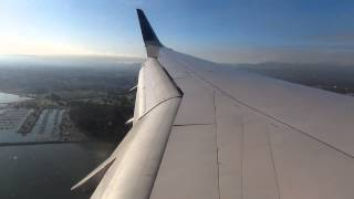 """Landing San Francisco United PS flight B757-200(4'05"""")5525"""
