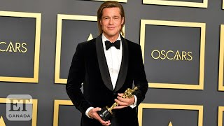 Brad Pitt Jokes About Tinder, Speech Writing In Oscars Press Room