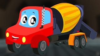 Little Red Car | Cement Mixer Truck | Car Cartoons And Videos For Kids