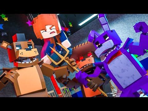 Minecraft FNAF 7 Pizzeria Simulator - A STUPID TRIDENT! (Minecraft Roleplay)