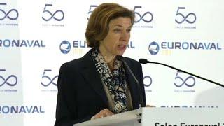 Florence Parly lance le programme du futur porte-avions français