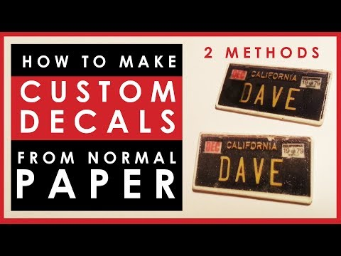How to make custom decals for scale models using plain paper (not decal paper)