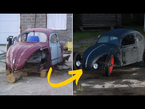 Dad Converts This Scrap Into A Fully-Functioning Mini Hot Rod For His Son – Crazy Car Transformation