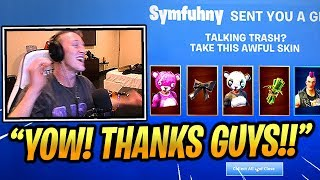 TFUE Gets *GIFTED* A Lot Of SKINS By STREAMERS!!   Fortnite Epic & Funny Moments