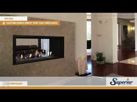 Superior DRL4543 DV See Through Linear Fireplace