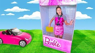 BARBIE BOX FORT COSTUME!!