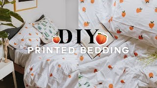 DIY Pattern Duvet Cover 🍑 Super Easy & Affordable (UPCYCLE) 2018 // Lone Fox