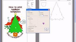 How To Print Applique Templates V6.avi