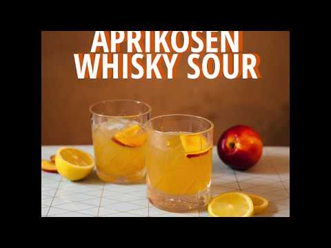 Aprikosen Whiskey Sour – Trinkvergnügen