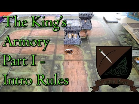 Board Game Playthrough : The King's Armory Part 1 - Intro Rules - Castle Kon