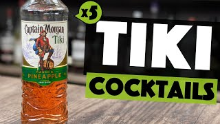 Captain Morgan TIKI | 5 EASY Cocktails You Can Make At HOME