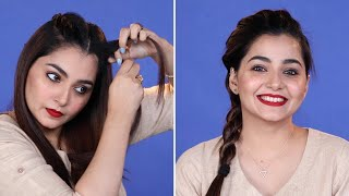5 Minutes DIY Hairstyle For Office In Hindi   Everyday Simple Hairstyle For Work   Be Beautiful
