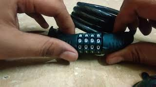 How to unlock a 4 digits combination cycle lock less then 30 second proved