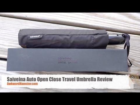 Saiveina Auto Open Close Travel Umbrella Review