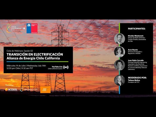Webinar Alianza de Energia Chile California: Sesión 02