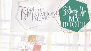 Setting Up My First Craft Booth | First Craft Fair Advice | The Stationery Muse