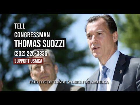 Tell Rep. Suozzi Vote YES on the USMCA