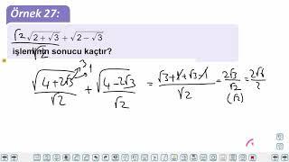 Eğitim Vadisi TYT Matematik 15.Föy Köklü Sayılar 2 Konu Anlatım Videoları