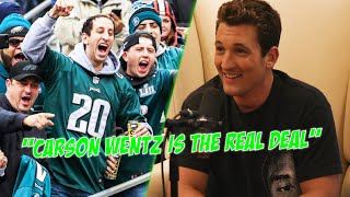 Top Gun: Maverick Actor Miles Teller Is Your Typical Trash-Talking Philly Fan