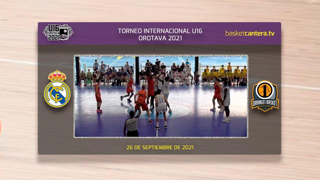 REAL MADRID vs ORANGE1 BASSANO.- Final Torneo Internacional Cadete-U16M