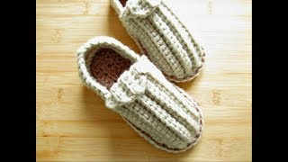 Crochet Slippers Shoes Child 6.7-7 Sole 4-5 Years Approx Designed By Happy Crochet Club