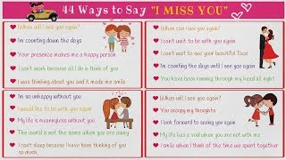 """I MISS YOU! 44 Cool Ways to Say """"I MISS YOU"""" in English"""