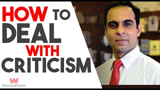 How to Deal With Criticism -By Qasim Ali Shah   In Urdu