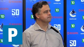 Canucks coach Travis Green talks Canucks season opener | The Province