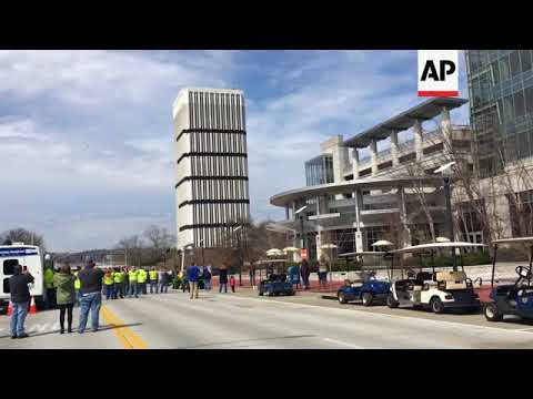 Tallest building in Kentucky's capital comes down in controlled implosion