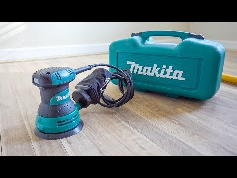 MAKITA RANDOM ORBITAL SANDER // UNBOXING & TEST