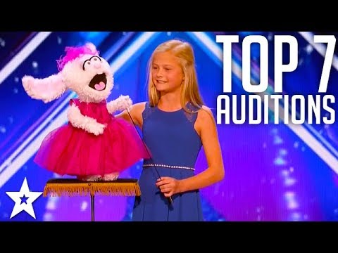 The Best Top 7 AMAZING Auditions | America's Got Talent 2017 (видео)