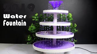 Christmas Tree water Fountain | How to make Water Fountain From Cardboard  | 2019