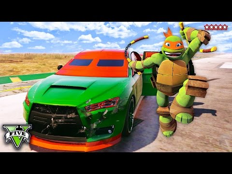GTA 5 TEENAGE MUTANT NINJA TURTLES - Raphael Is Missing! EPIC GTA TMNT Montage (GTA 5 Funny Moments)