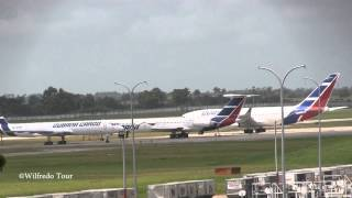 preview picture of video 'American Eagle ATR-72 Take Off  Jose Marti Intl at Havana, Cuba'