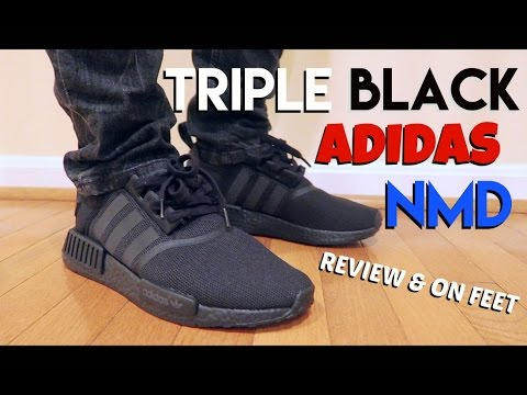 """ADIDAS NMD """"TRIPLE BLACK"""" REVIEW & ON FEET (MOST COMFORTABLE SHOES EVER??)"""
