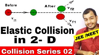Centre Of Mass 08 || Collision Series 02 || Elastic Collision in Two Dimension  IIT JEE / NEET ||