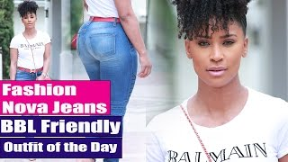 Fashion Nova Jeans | BBL Friendly | OOTD