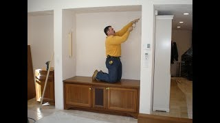 #72 Ciecie blatow pomiedzy scianami /Cutting the counter tops between the walls.
