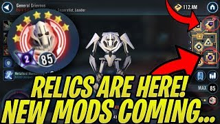 Relics Are Here! Relic Overview Guide + New Mod Tiers Coming Eventually... | Galaxy of Heroes